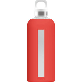 Sigg Star Glass Drinking Bottle 500ml, scarlet